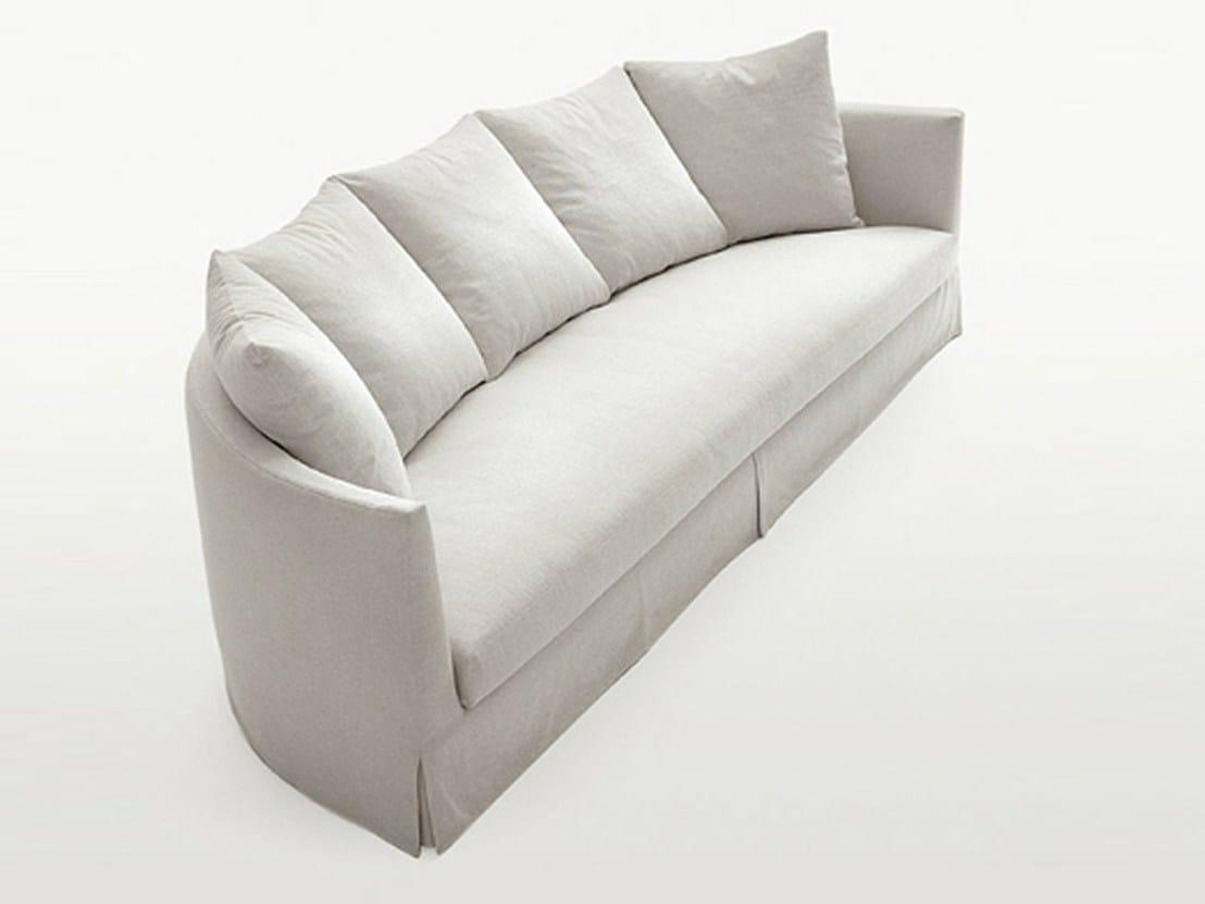 Divano semicircolare imbottito in tessuto divano collezione crono by maxalto a brand of b b - Divano letto b b italia ...
