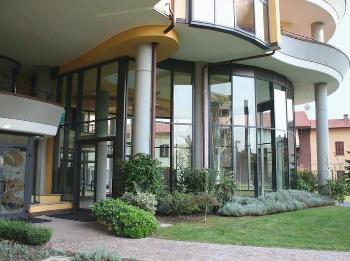 Porta d 39 ingresso in alluminio e vetro per esterno 67 id by for Porta ingresso vetro