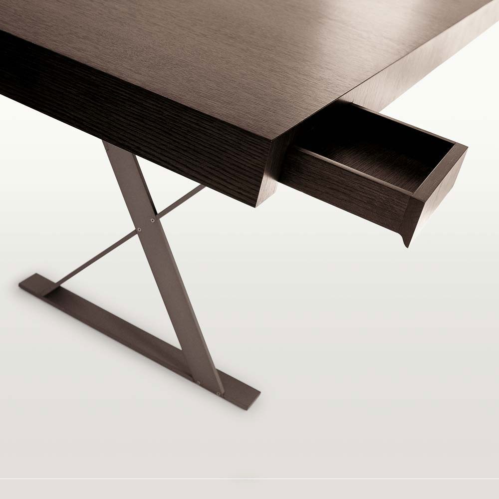 Solid wood writing desk max collection by maxalto a brand for B b maxalto