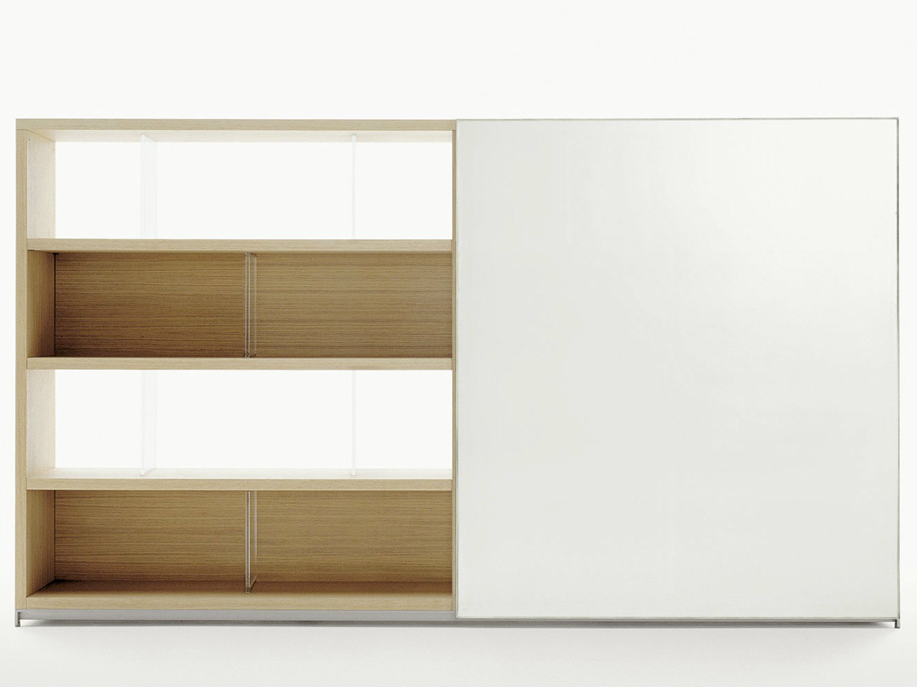 Wonderful image of  wooden bookcase MIDA Bookcase Maxalto a brand of B&B Italia Spa with #462818 color and 1326x994 pixels