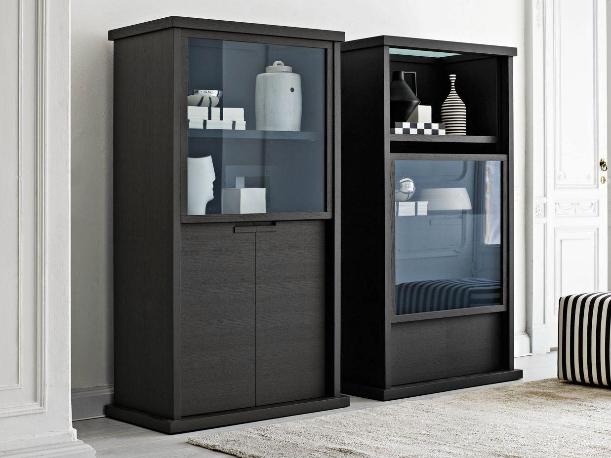 Incipit display cabinet by maxalto a brand of b b italia - Vitrinas de madera para comedor ...