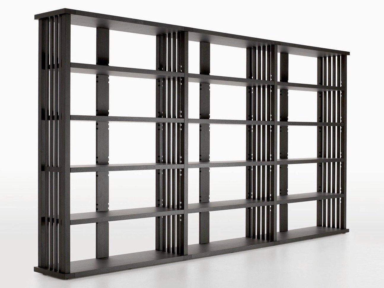 Wonderful image of  bookcase BIBLIA by Maxalto a brand of B&B Italia Spa design Antonio with #302E2B color and 1295x971 pixels