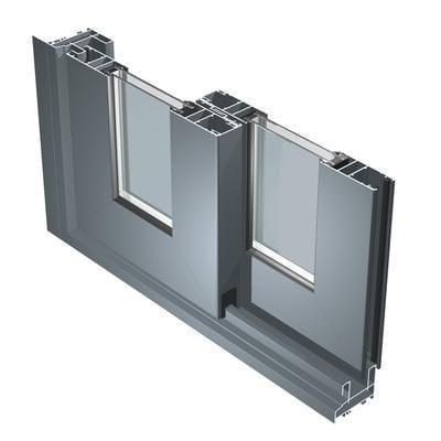 Porte fen tre coulissante en aluminium avec double vitrage for Porte fenetre coulissante aluminium