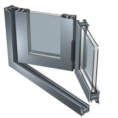 Porta-finestra a libro in alluminio 45 V by ALUK Group