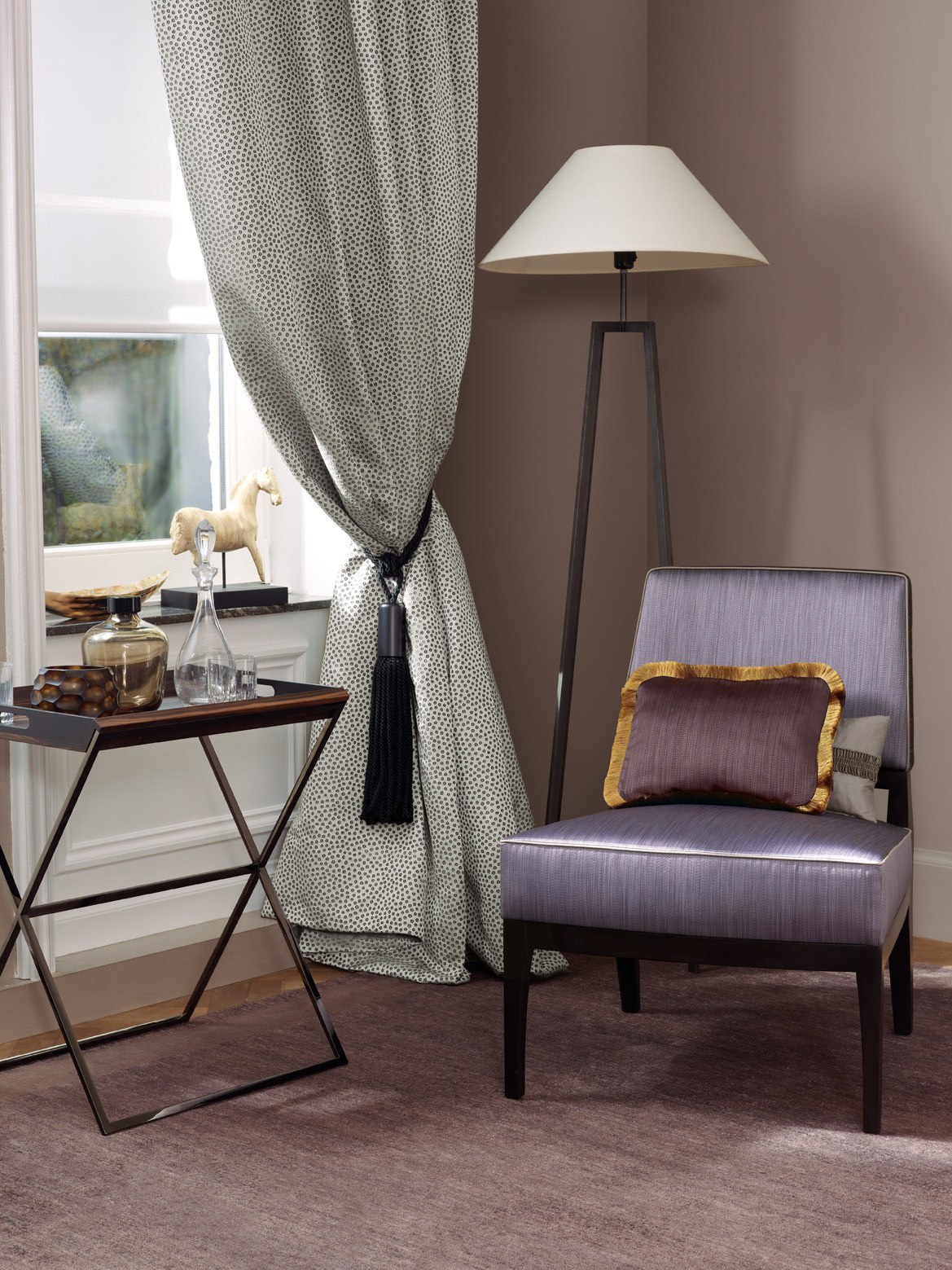uni stoff f r gardinen glint kollektion urban jungle by zimmer rohde. Black Bedroom Furniture Sets. Home Design Ideas