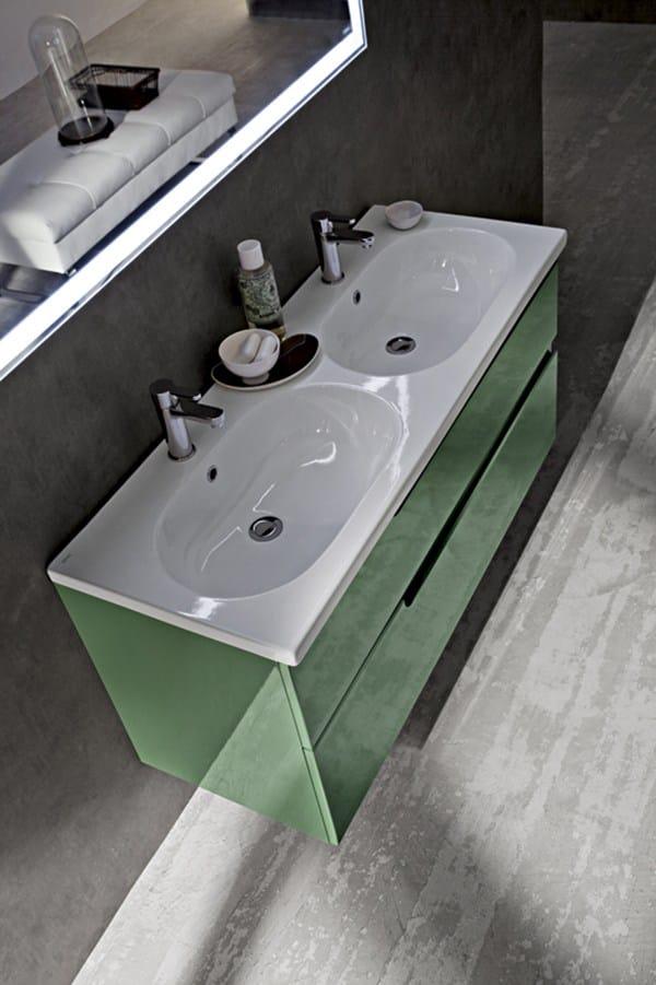 Mobile lavabo laccato singolo sospeso ryo 54/55 by cerasa design ...