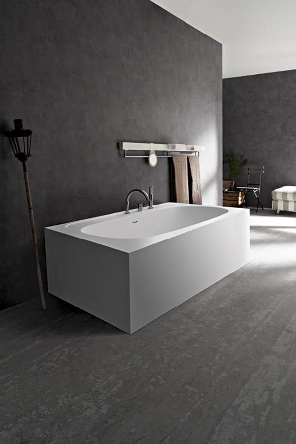 Vasca da bagno in tecnoril design vasca soft by cerasa - Materiale vasca da bagno ...