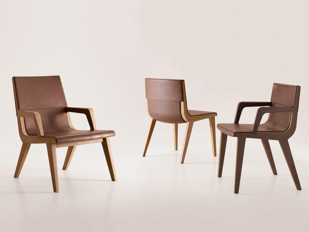 Solid wood chair with armrests acanto acanto collection by for B b italia spa