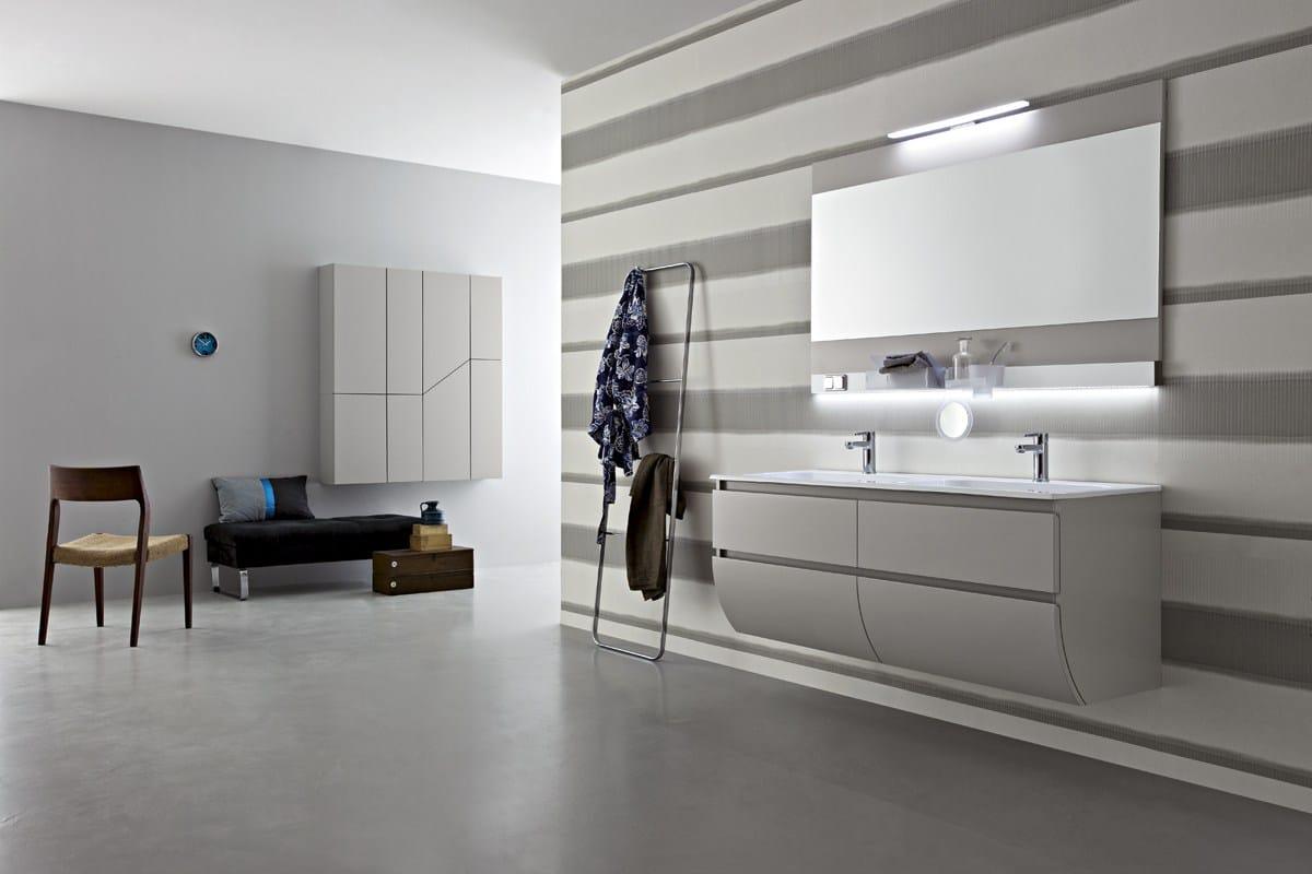 Mobile lavabo doppio sospeso con cassetti joy 52 53 by cerasa design stefano spessotto lorella - Mobili bagno cerasa prezzi ...