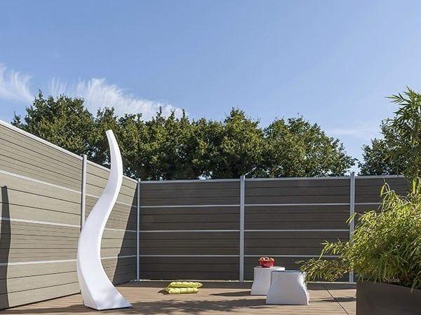 Cloison de jardin en bois composite lame ecran claustra by - Ecran de jardin en bois ...