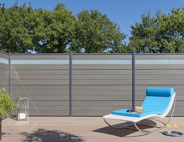 Schermo divisorio da giardino in legno composito lama per recinzioni by silvadec - Recinzioni da giardino prezzi ...