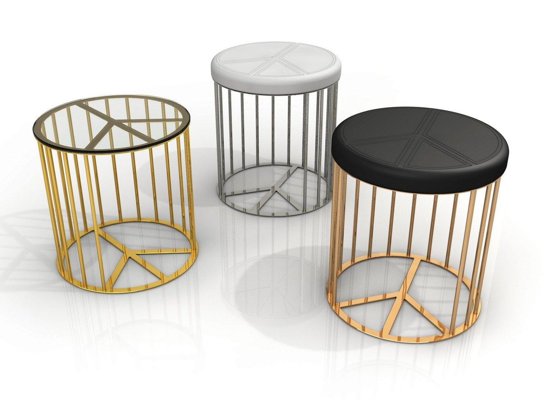 Pouf Da Giardino Imbottito In Alluminio Pace Collezione Dream By Altreforme Design Piter