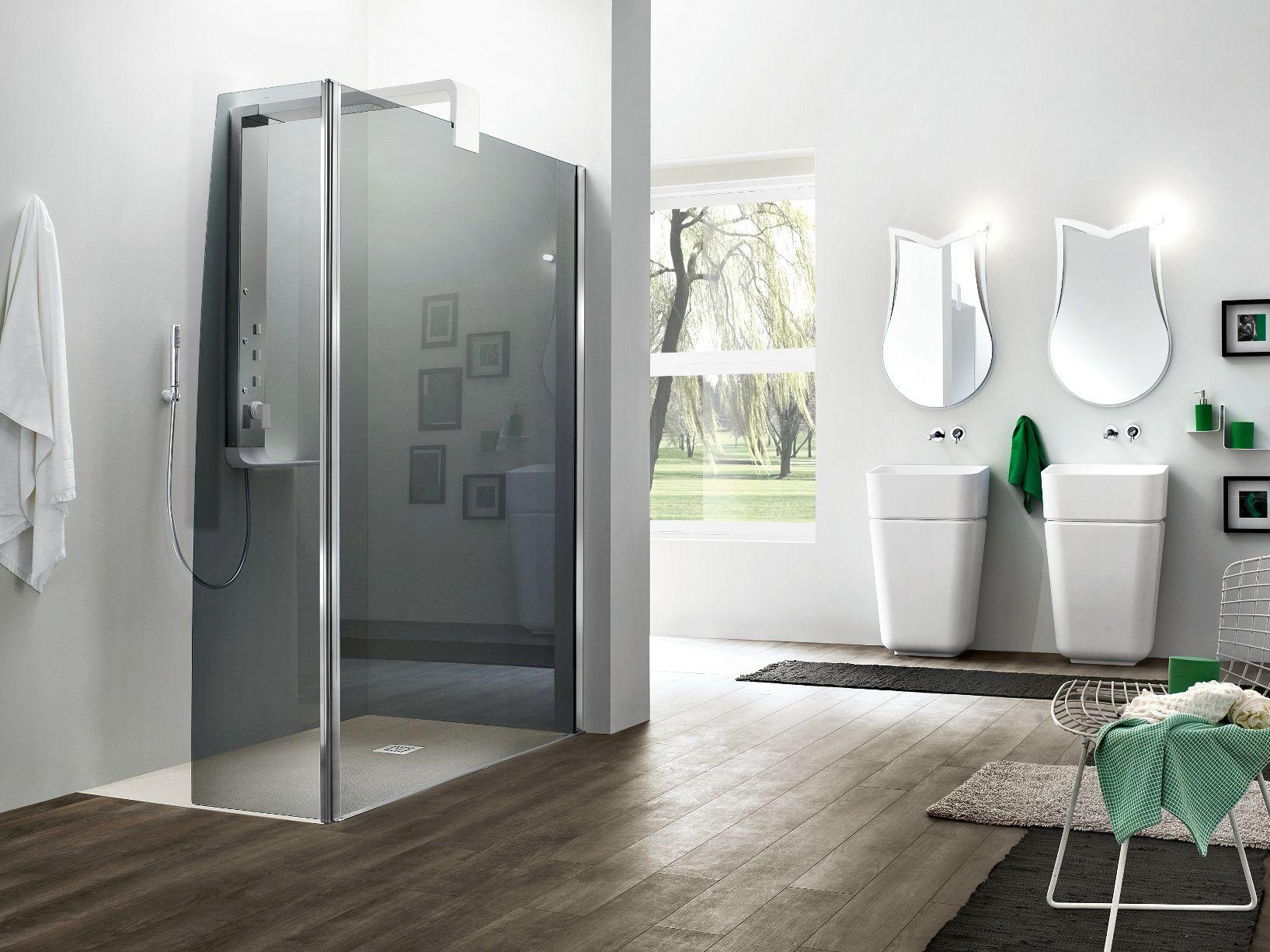 Box doccia angolare in vetro temperato separet otto plus by arblu - Box doccia in vetro ...