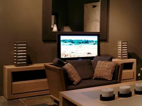 Low wood veneer tv cabinet quadra quadra collection by ph for Sideboard quadra