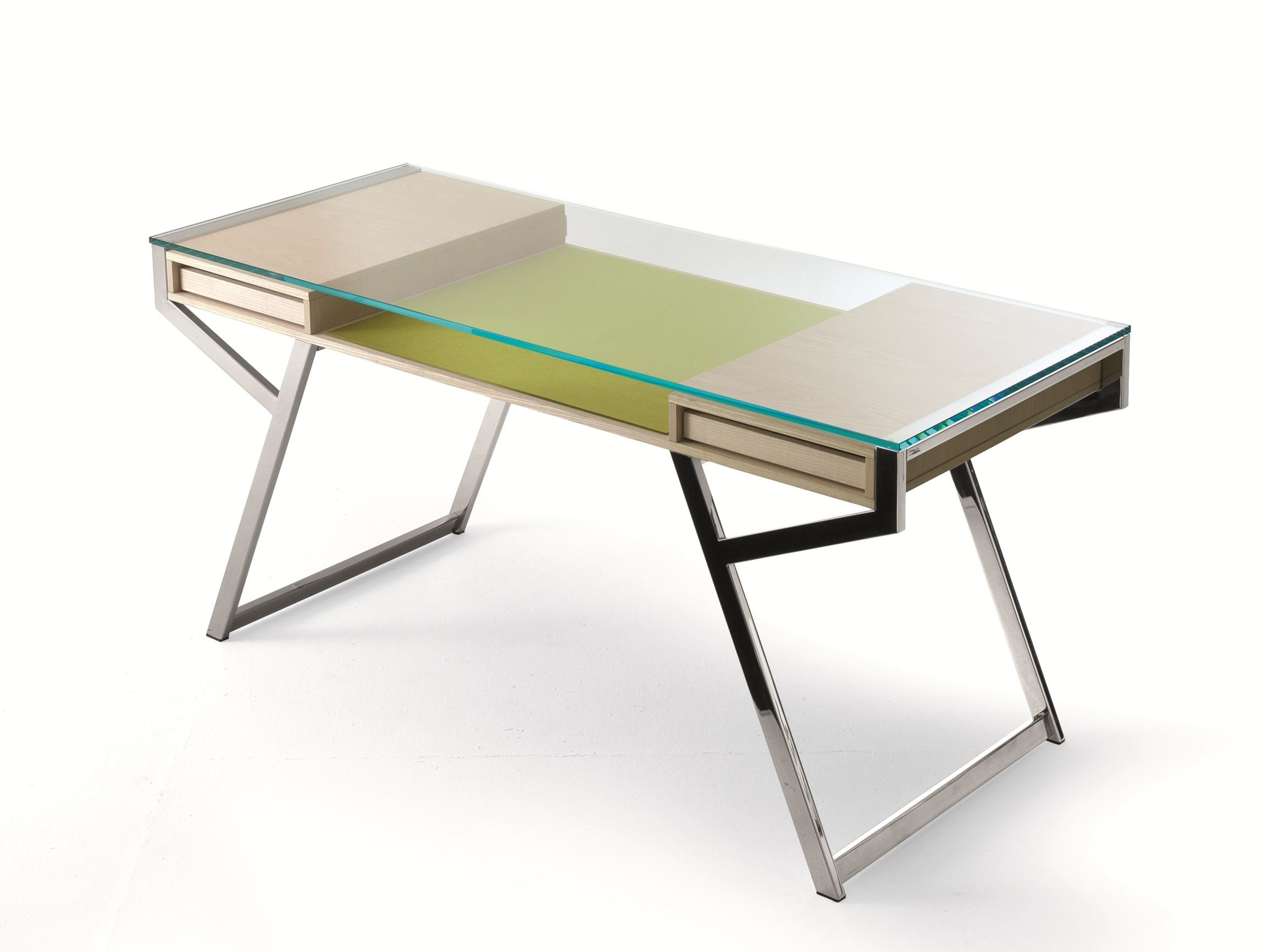 Amazing photo of WRITING DESK WITH DRAWERS LUÌ BY GALLOTTI&RADICE DESIGN PAOLO MARIA  with #298D8B color and 2309x1732 pixels
