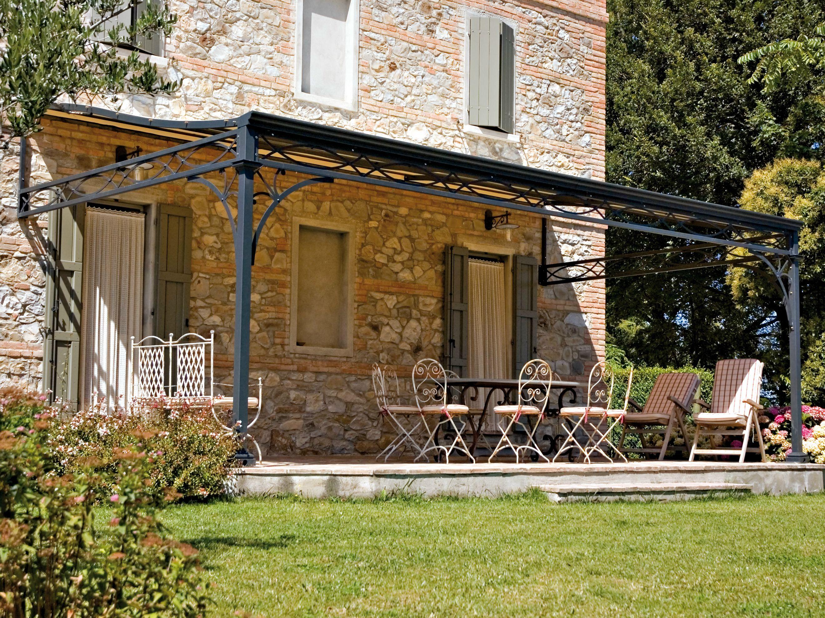 Malatesta terrassen berdachung by unosider for Piani di casa cottage con veranda protetta