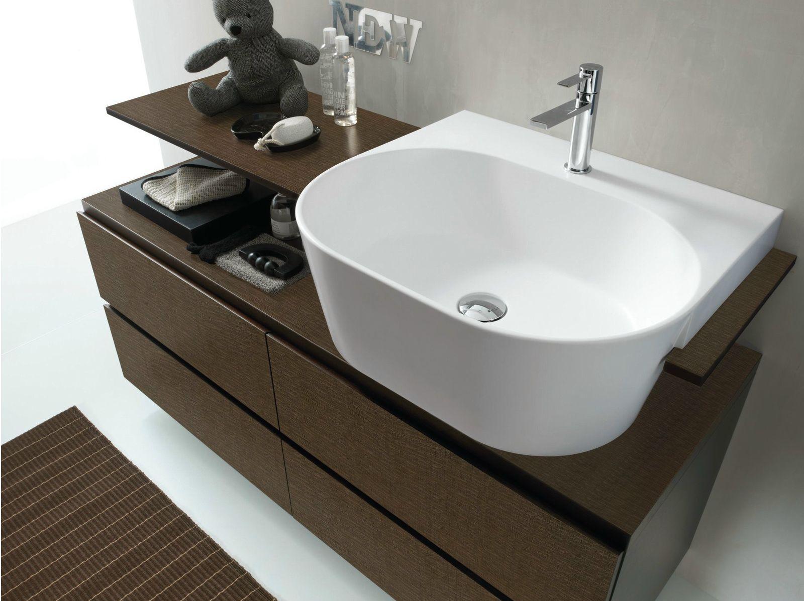 bathroom furniture set canestro - composition c13 by novello ... - Il Bagno Canestro Di Novello
