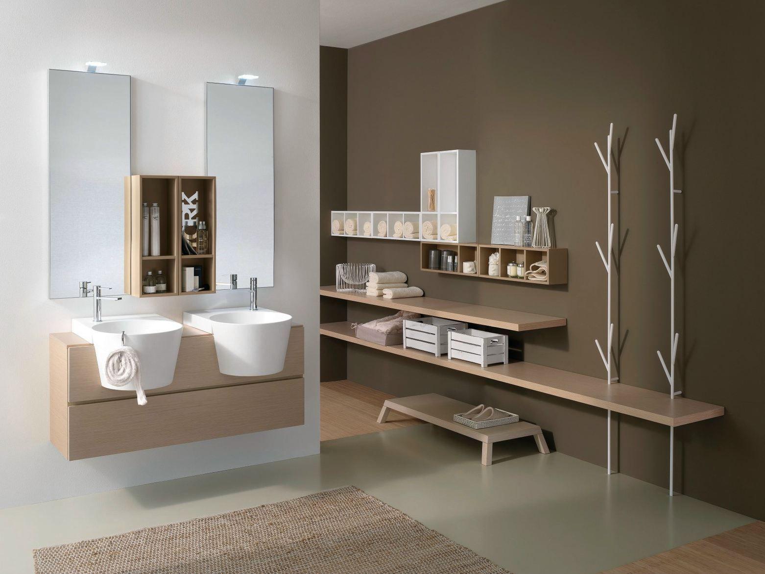 Arredo bagno completo canestro composizione c12 by novello design gian vittorio plazzogna - Novello mobili bagno ...