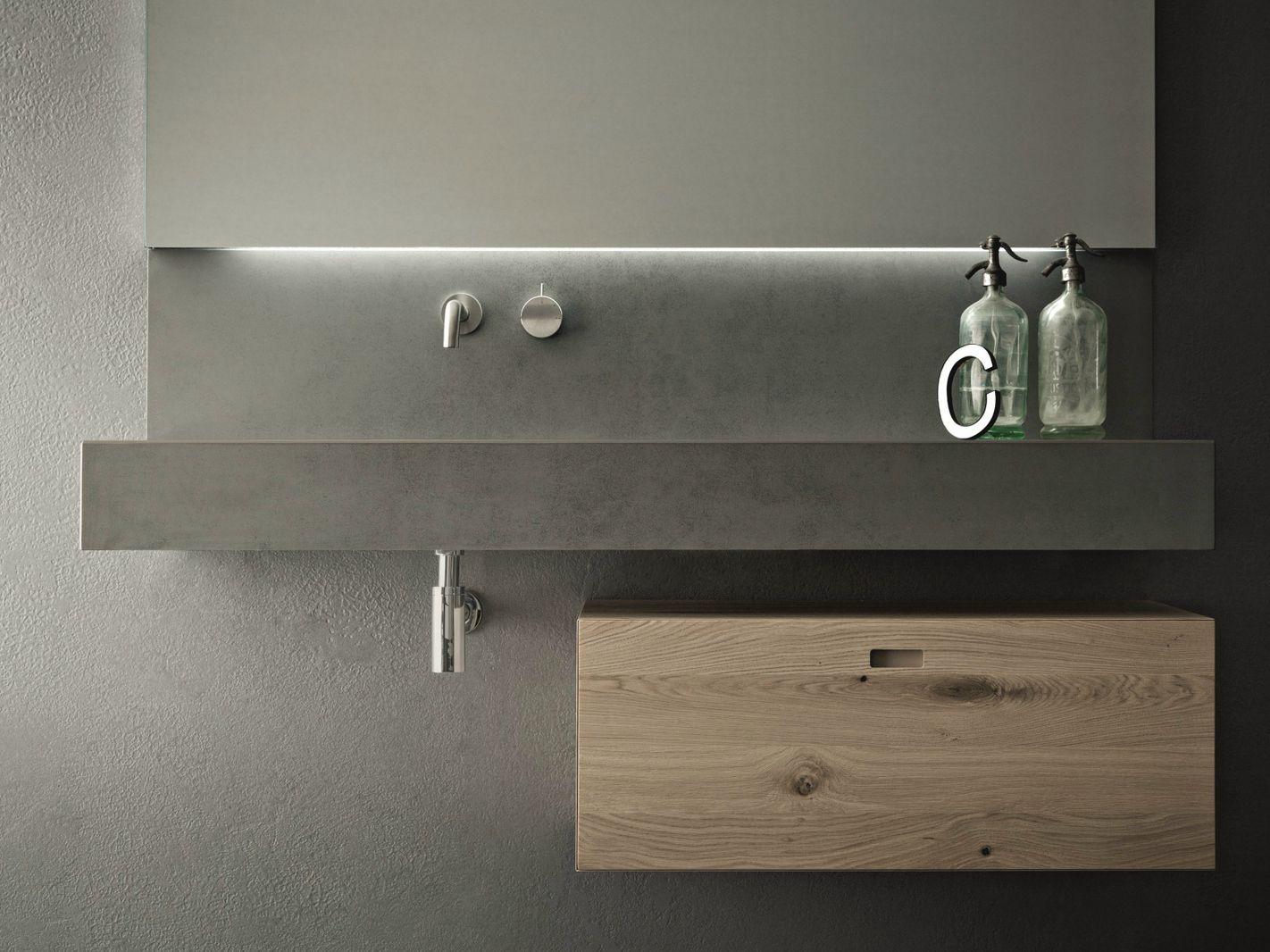 Arredo bagno completo in cemento CRAFT - COMPOSIZIONE N02 by NOVELLO design S...