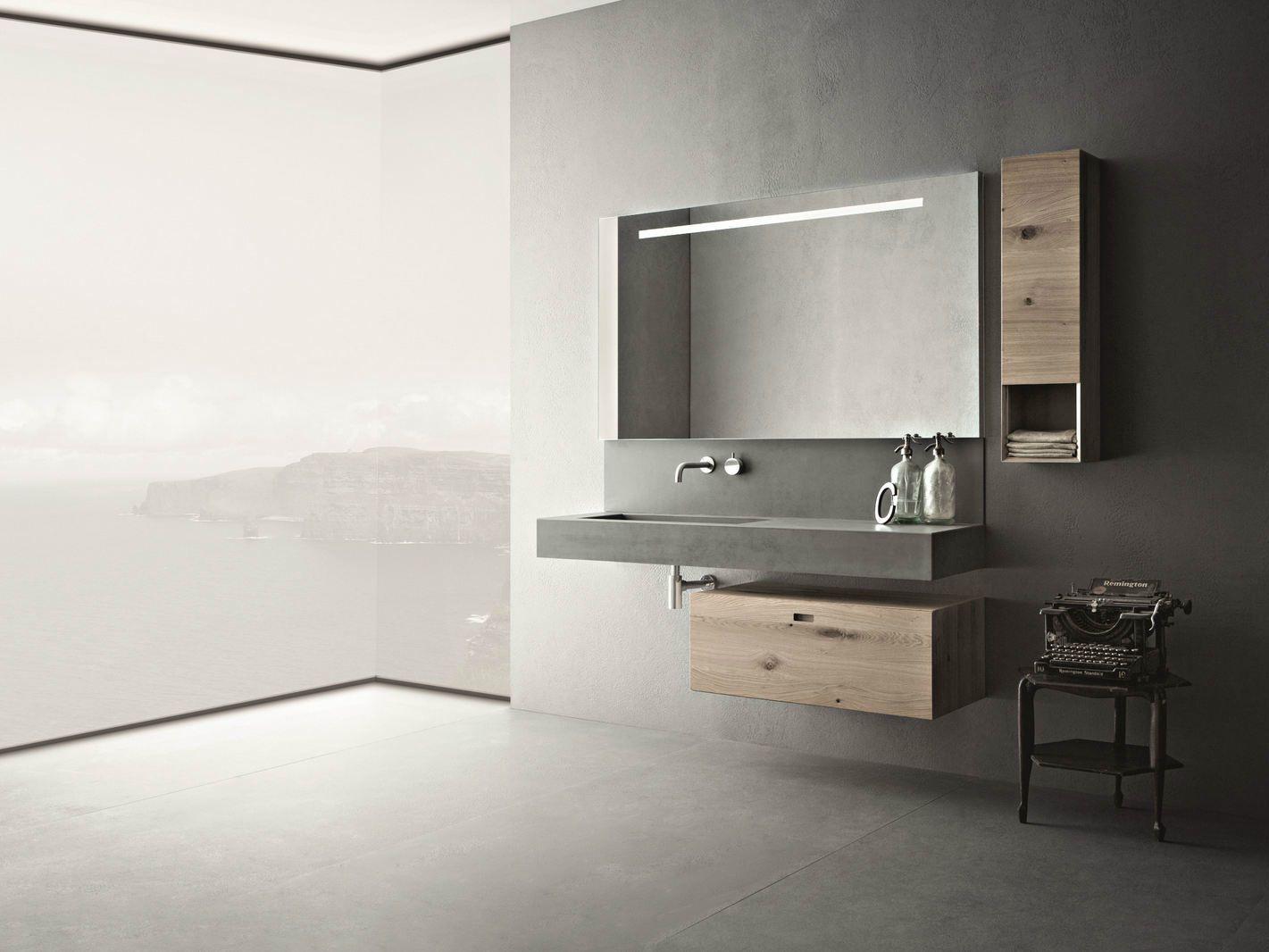 Arredo bagno completo in cemento CRAFT - COMPOSIZIONE N02 by NOVELLO design Stefano Cavazzana