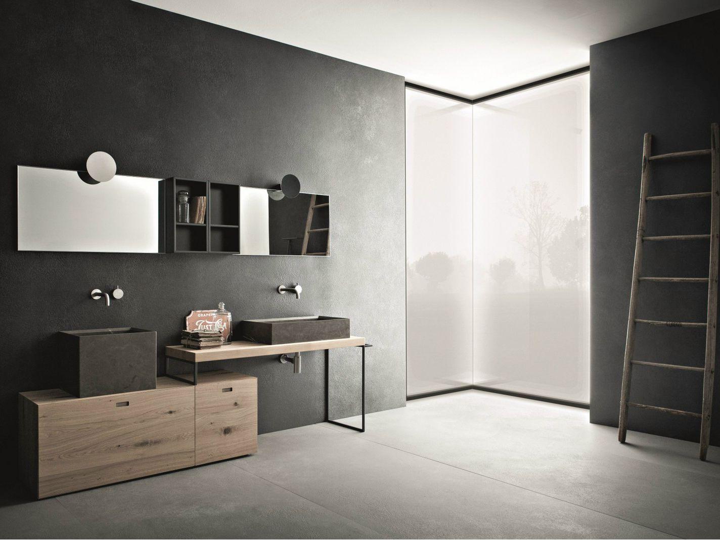 Arredo bagno completo craft composizione n06 by novello for Bagno arredo design