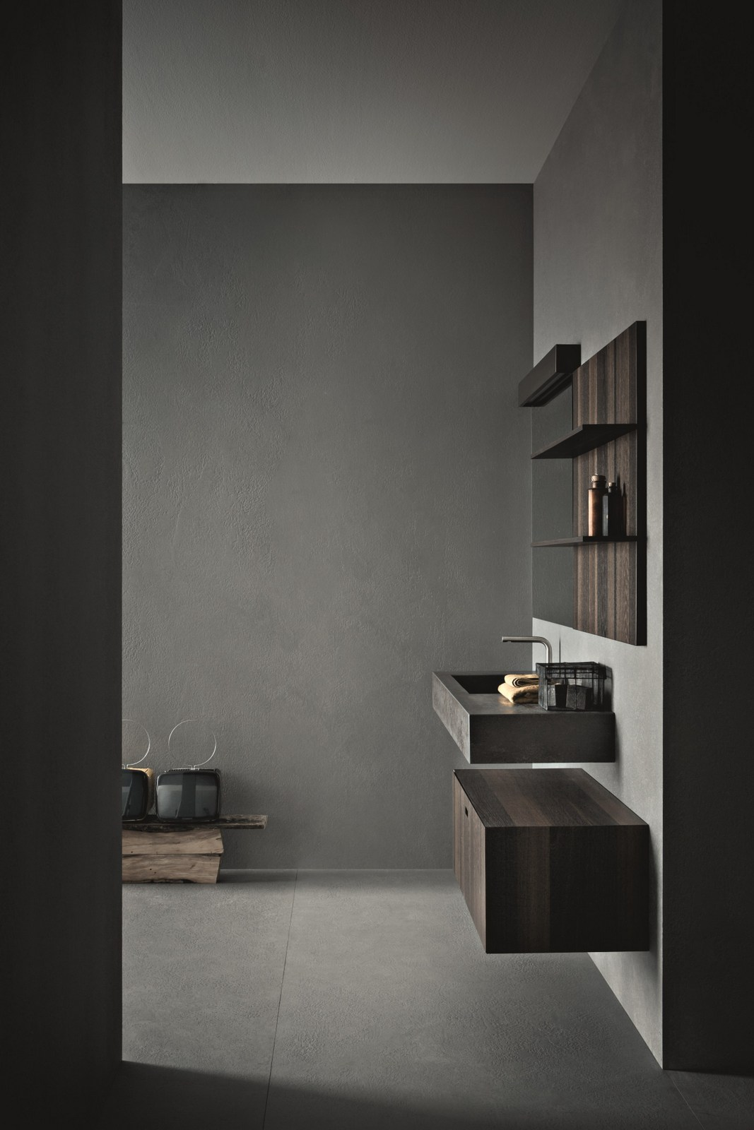 Arredo bagno completo craft composizione n09 by novello for Arredo bagno completo