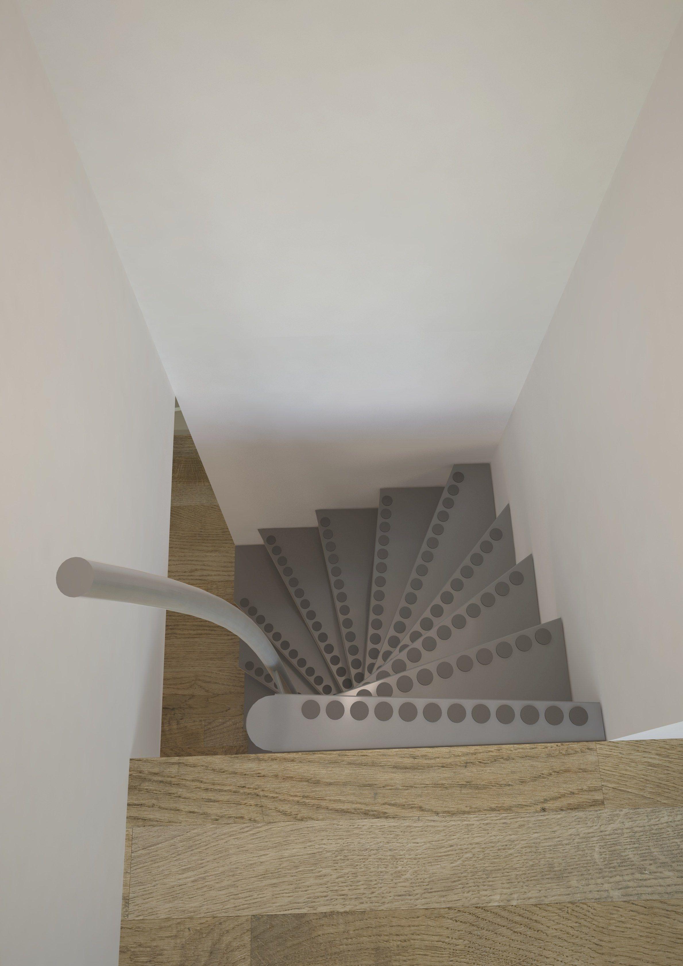Escalera de caracol cuadrada 1m2 by interbau - Precio escalera de caracol ...
