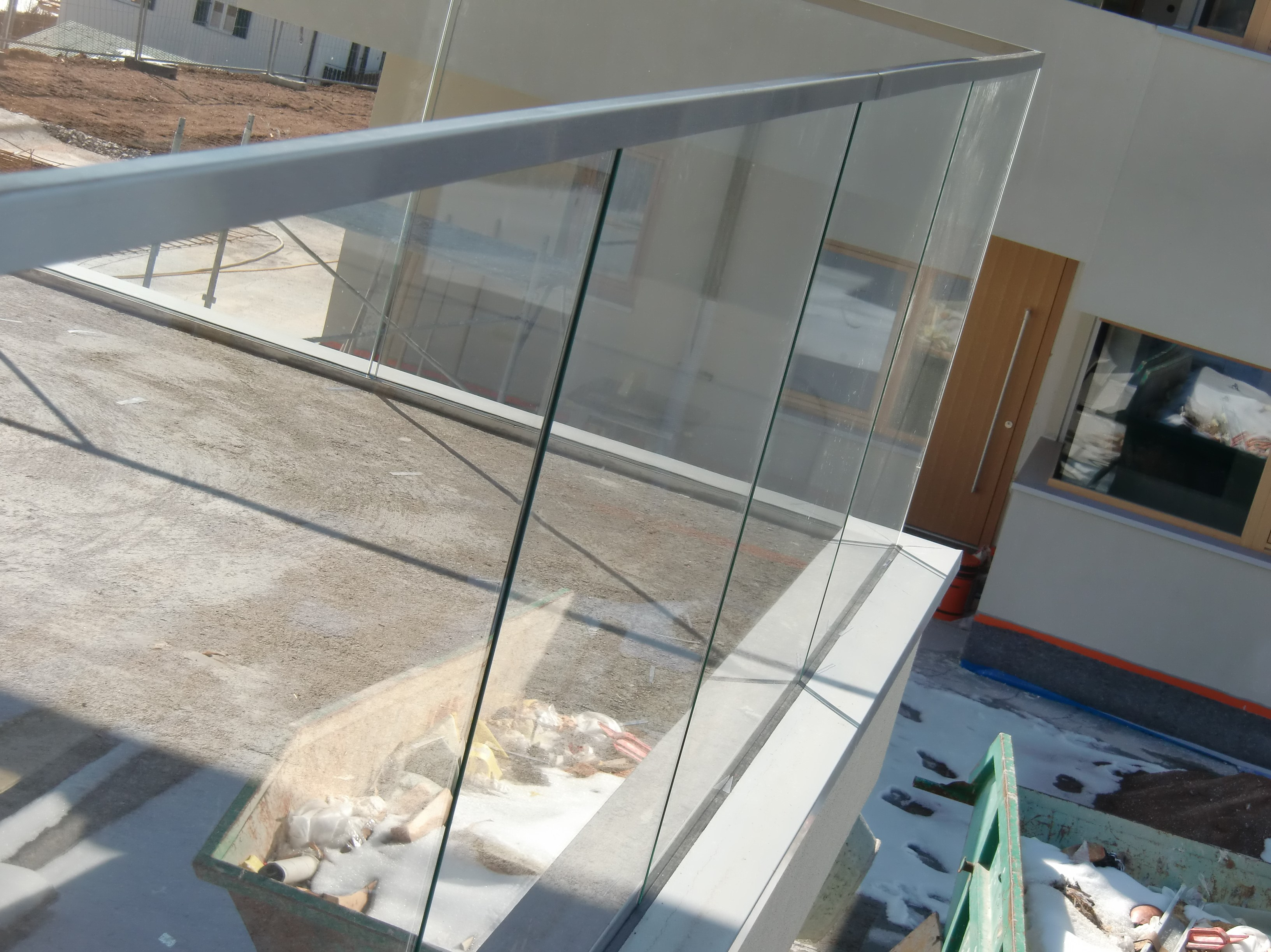 Barandas De Vidrio Para Balcones. Interesting De Acero Tubular De La ...