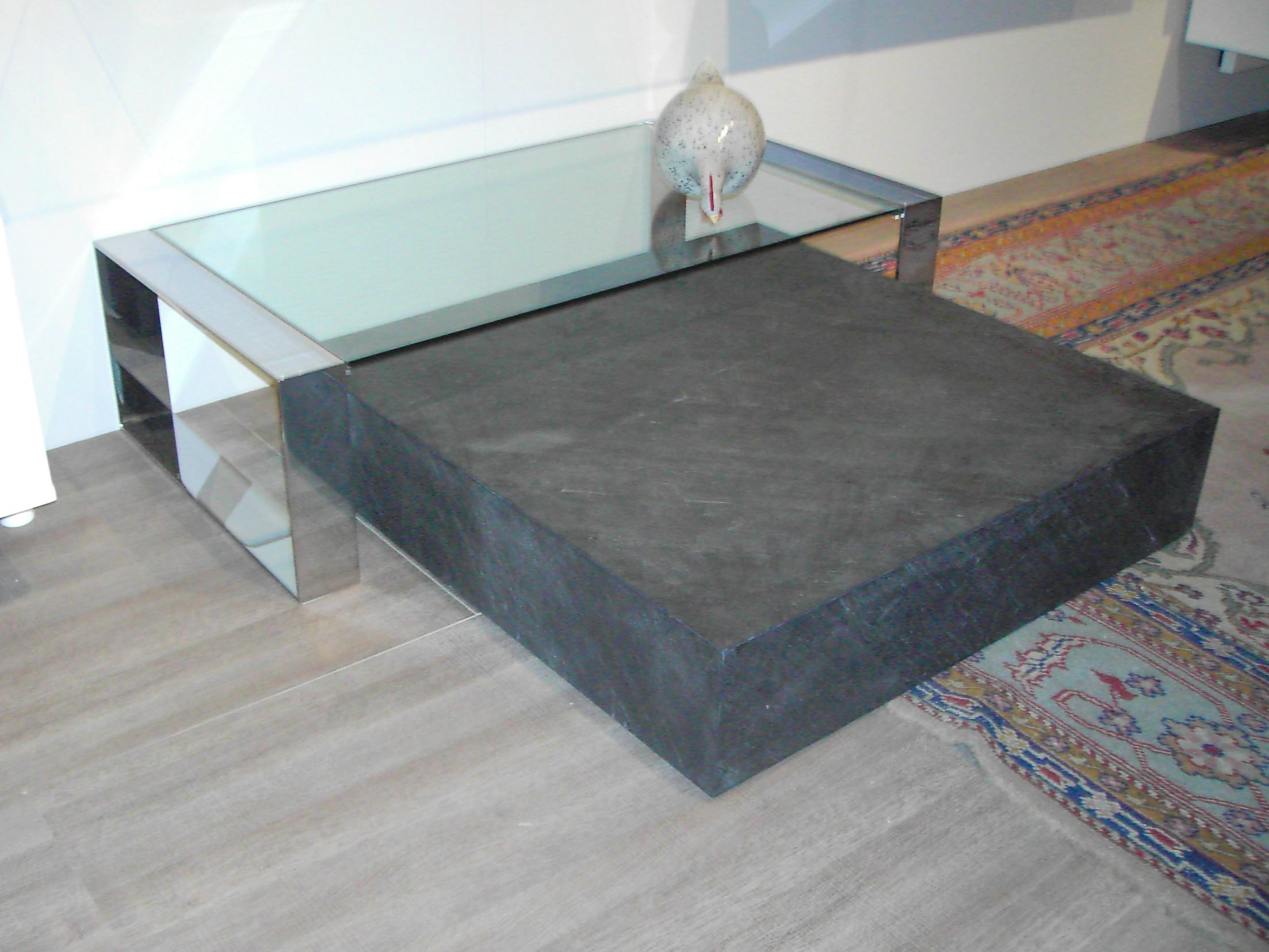 table basse en ardoise kubic orsenigo. Black Bedroom Furniture Sets. Home Design Ideas