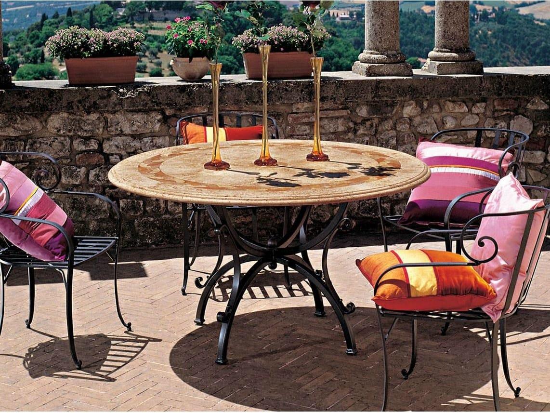 Tavolo da giardino rotondo castellano collezione genesi by for Tavolo rotondo esterno