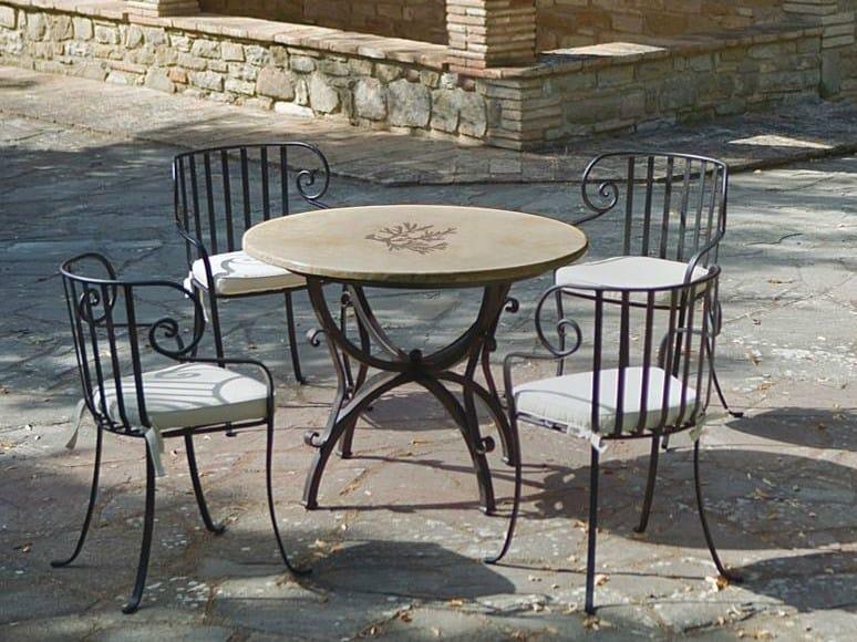 Tavolo da giardino rotondo coral tavolo rotondo - Tavolo in pietra giardino ...
