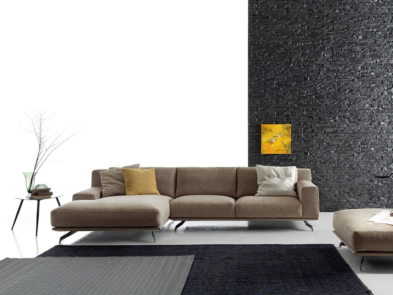 Corner sectional fabric sofa DALTON by Ditre Italia design Stefano Spessotto, Lorella Agnoletto