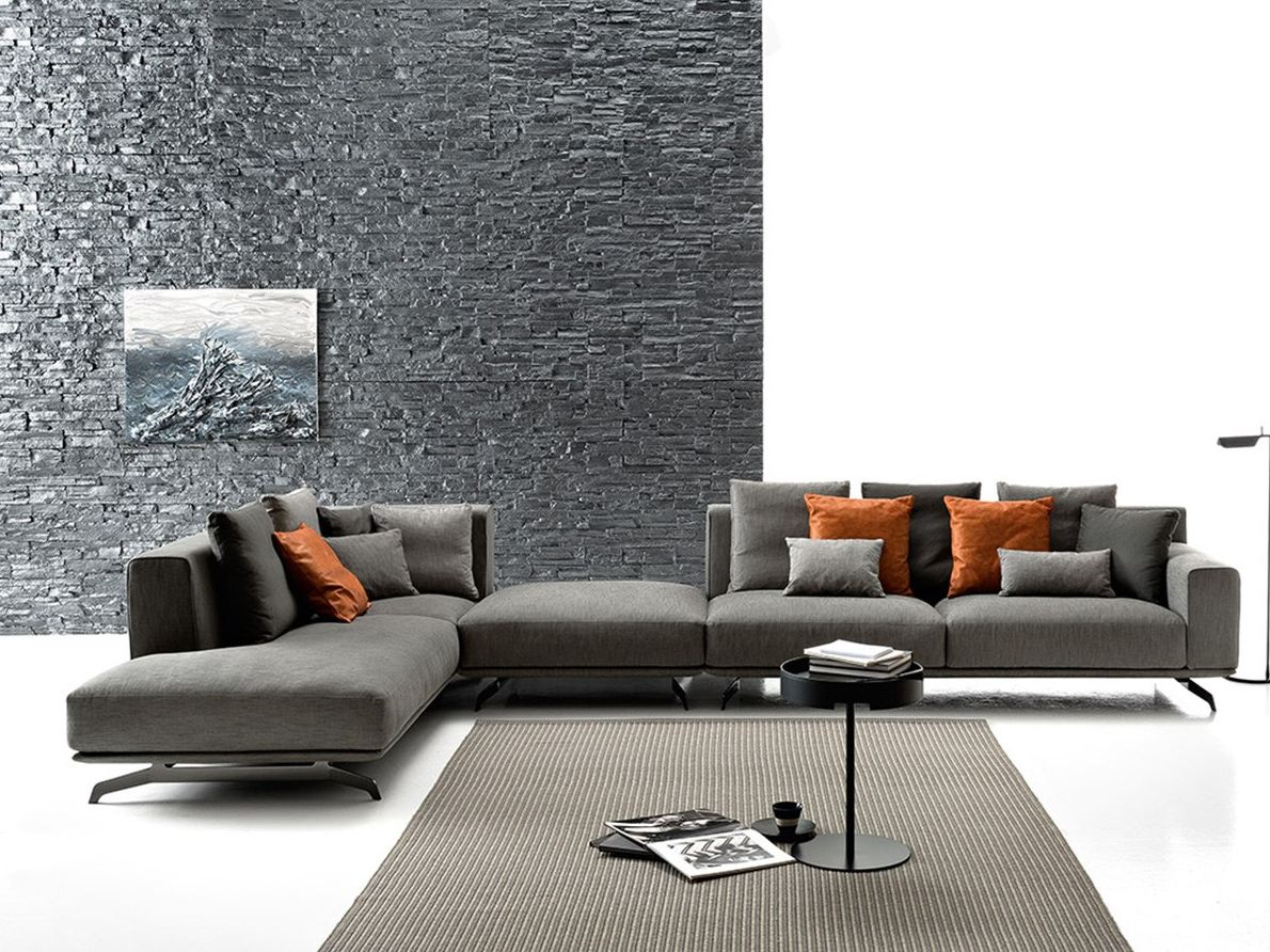 Sectional fabric sofa DALTON SOFT by Ditre Italia design Stefano Spessotto, Lorella Agnoletto