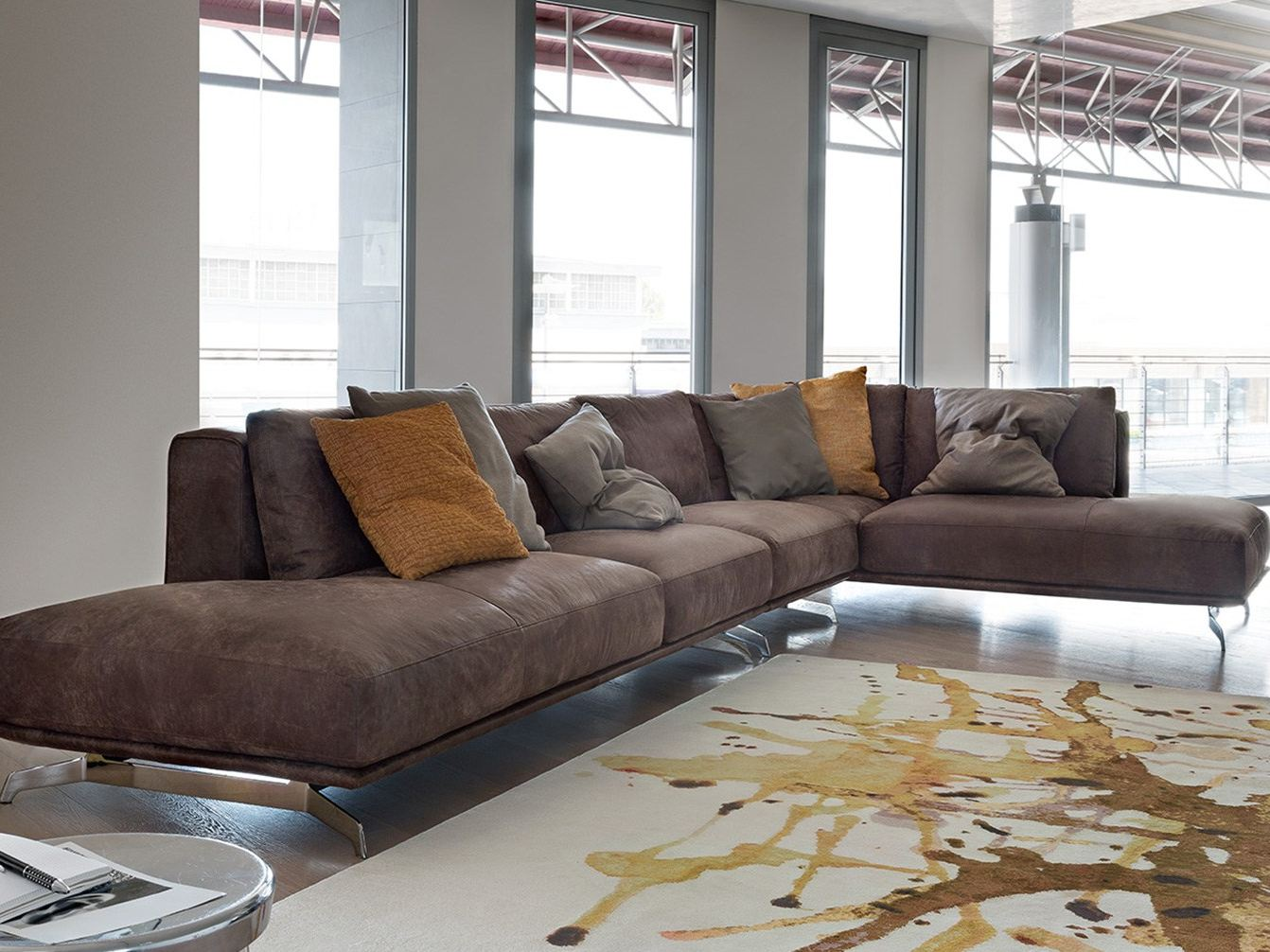 SECTIONAL IMITATION LEATHER SOFA DALTON LEATHER  CORNER SOFA BY DITRE ITALIA  DESIGN STEFANO ...