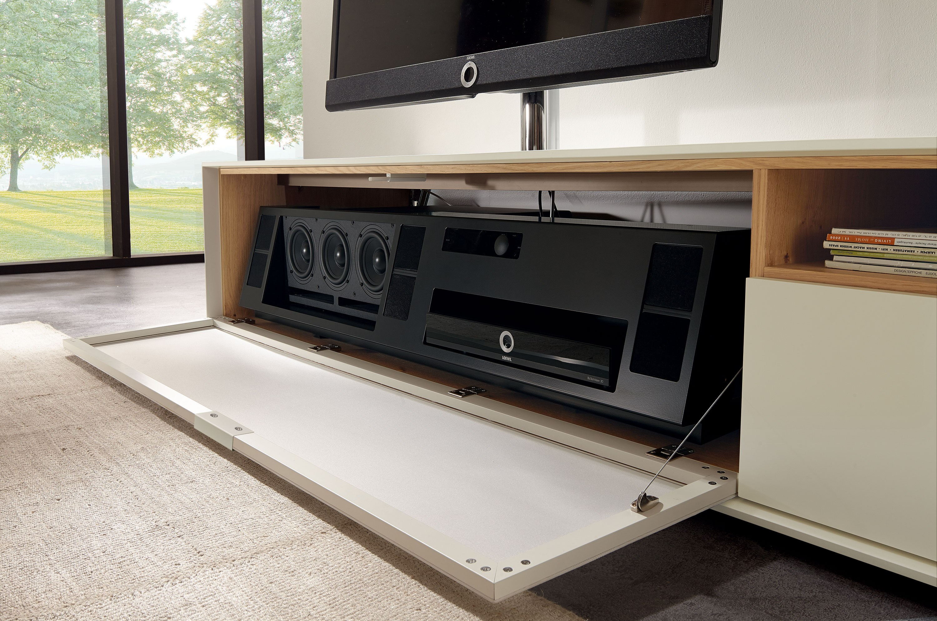 Country dining room furniture - Low Lacquered Tv Cabinet Scopia Tv Cabinet H 252 Lsta Werke H 252 Ls