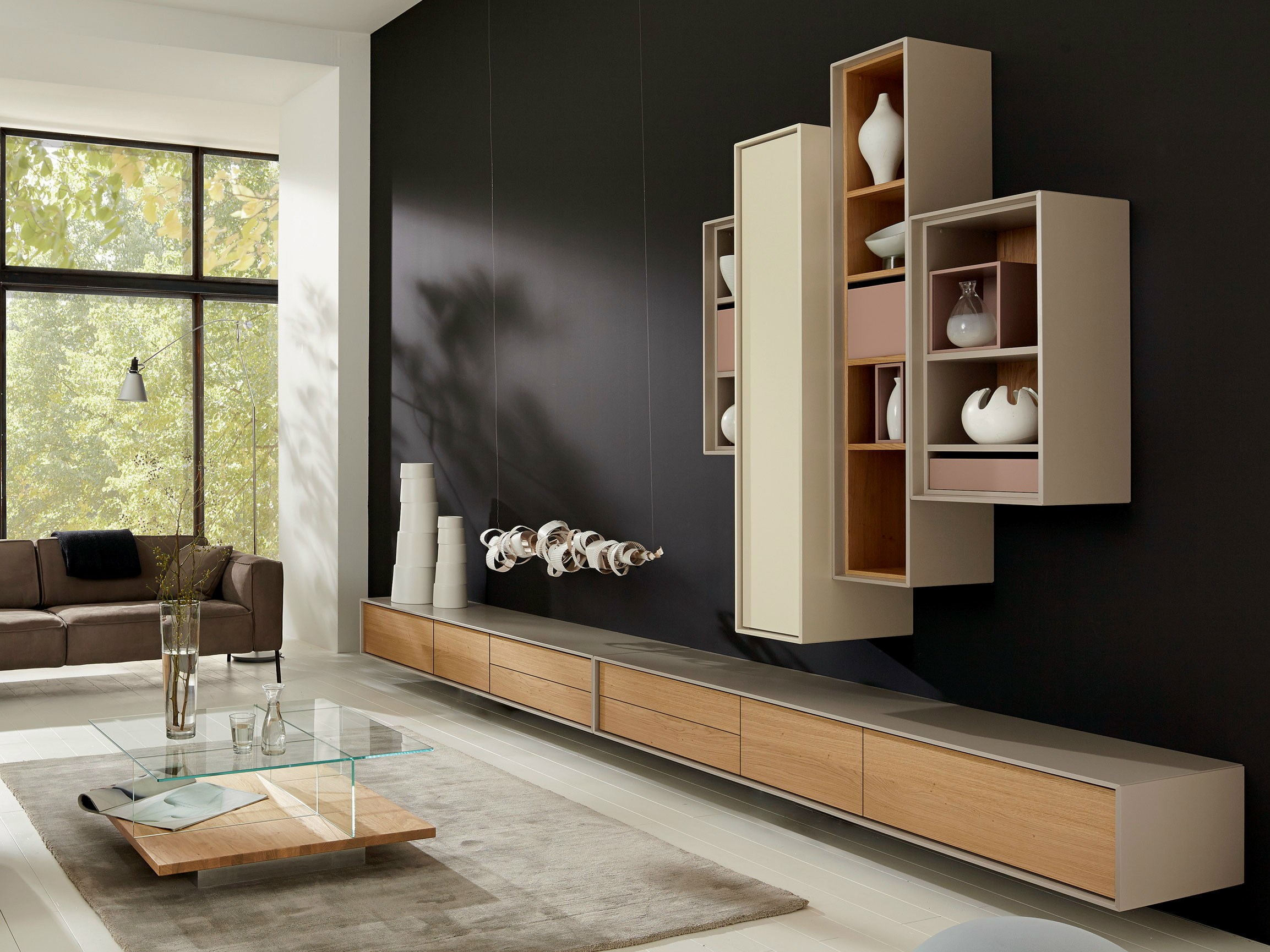 scopia wohnwand by h lsta werke h ls. Black Bedroom Furniture Sets. Home Design Ideas
