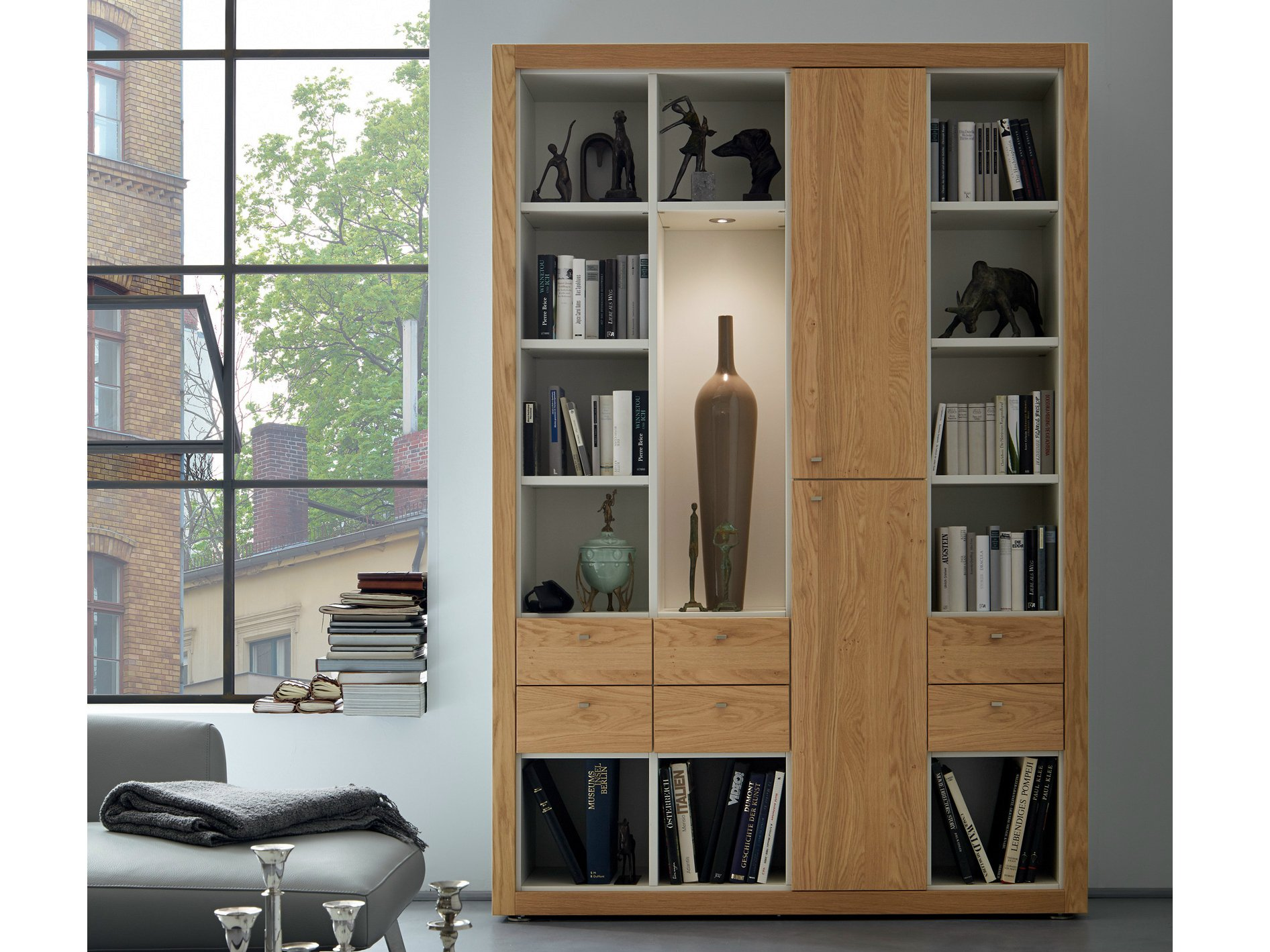 xelo libreria in rovere by h lsta werke h ls. Black Bedroom Furniture Sets. Home Design Ideas