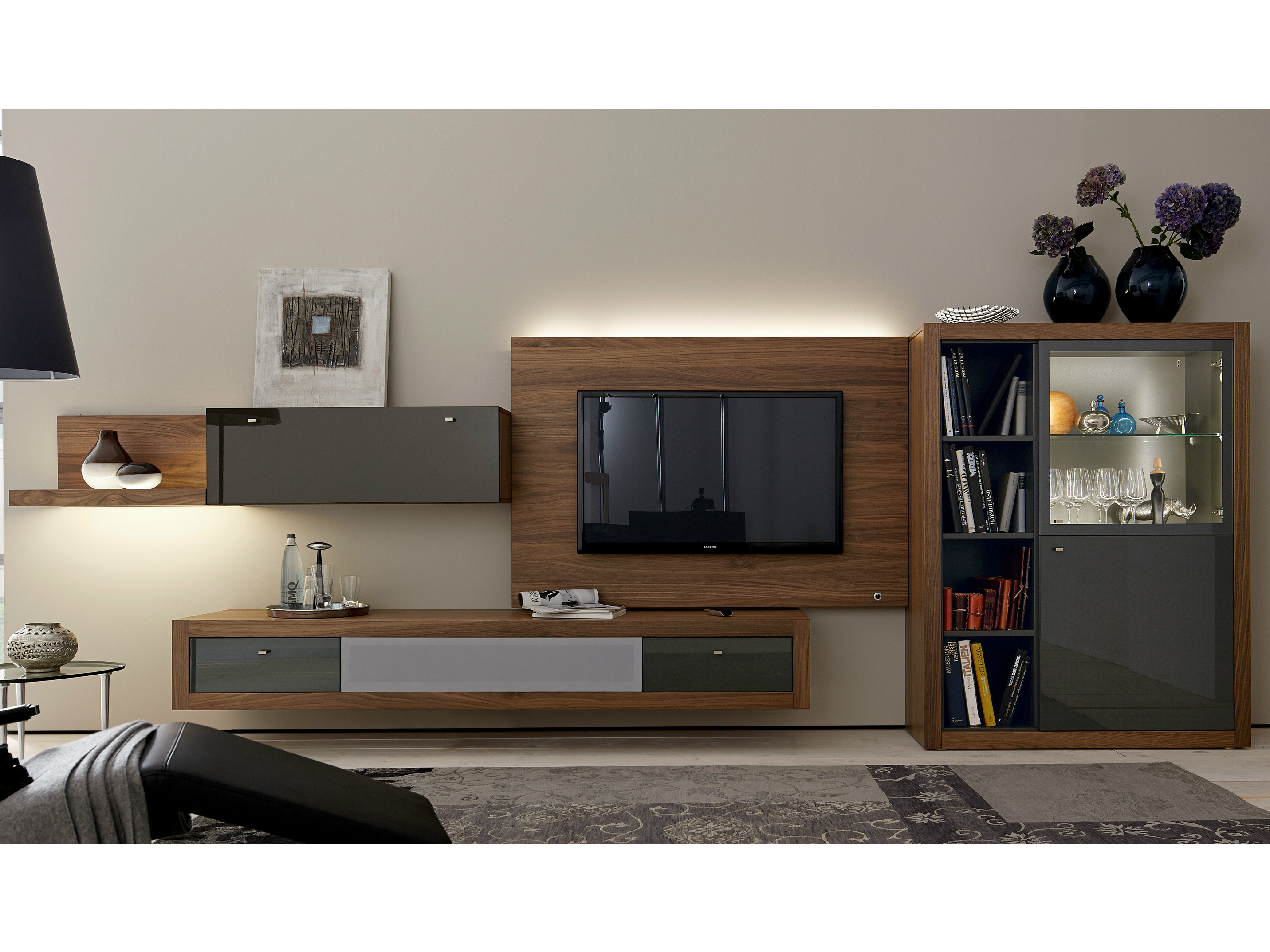 xelo tv wohnwand by h lsta werke h ls. Black Bedroom Furniture Sets. Home Design Ideas