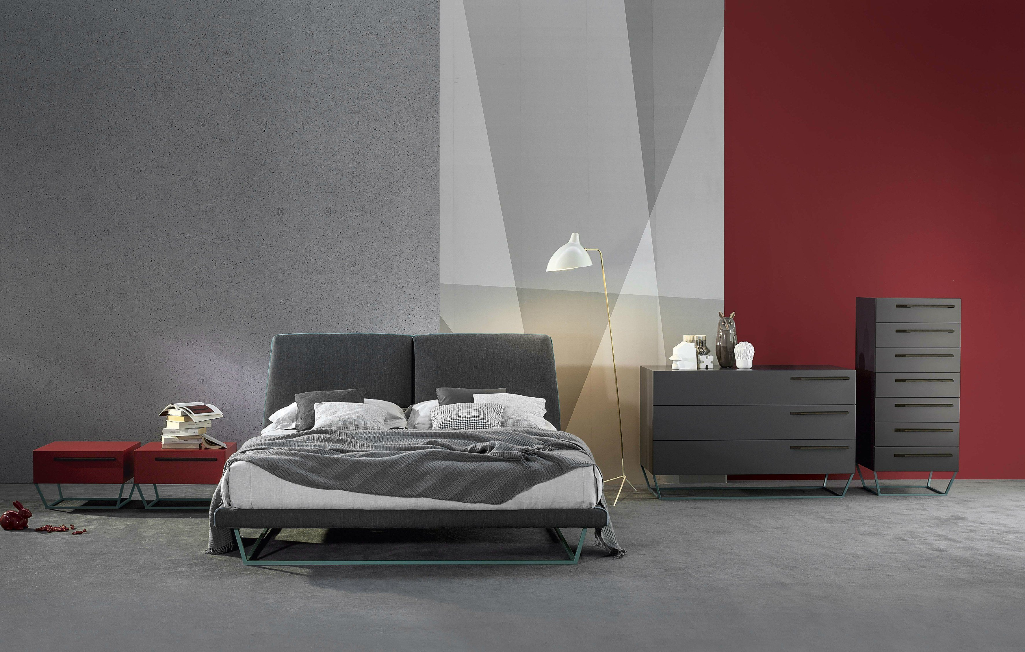 DOUBLE BED WITH UPHOLSTERED HEADBOARD AMLET BY BONALDO  DESIGN GINO ...
