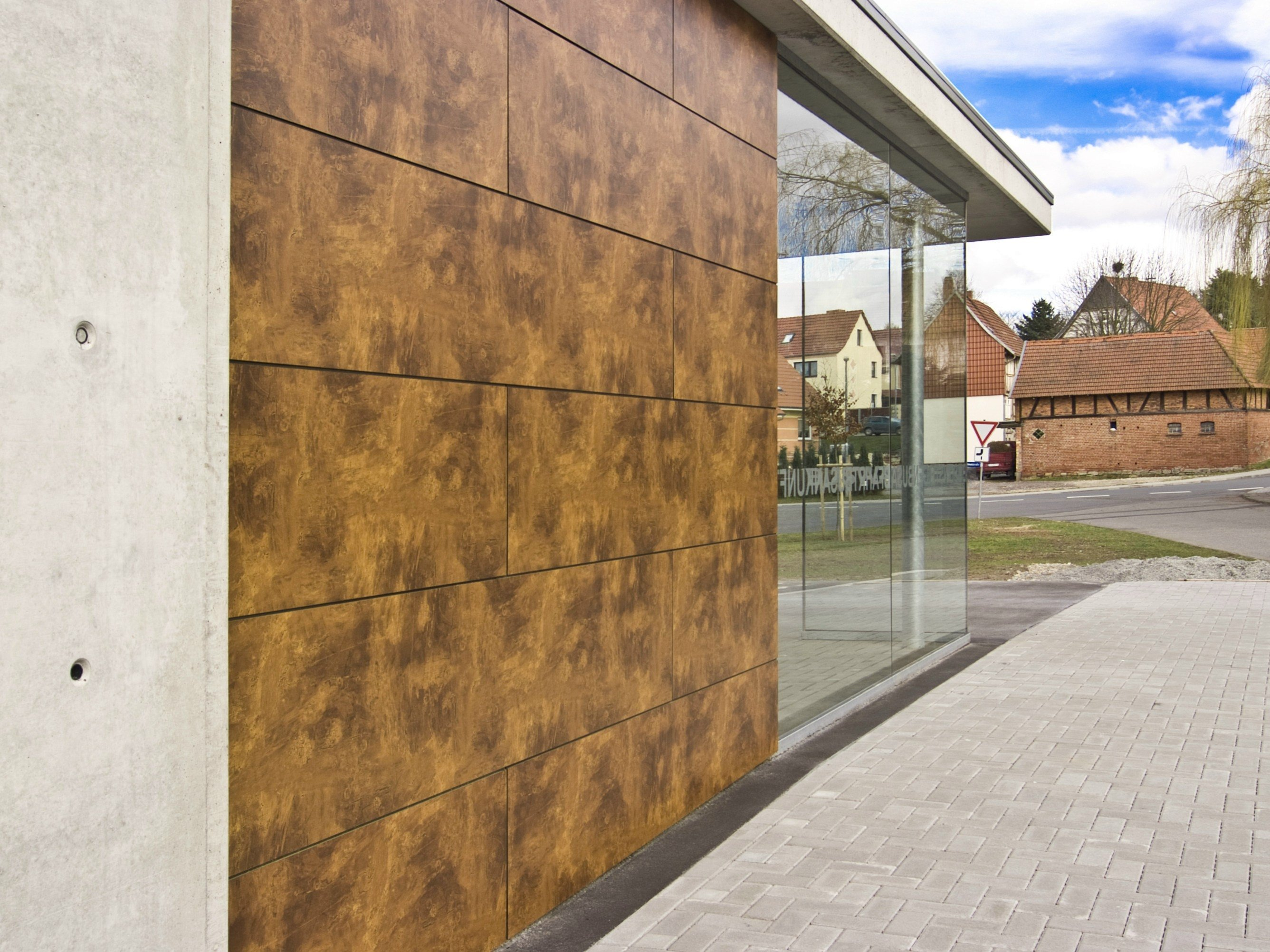 Exterior: HPL Wall Panel With Stone Effect TRESPA® METEON® Naturals