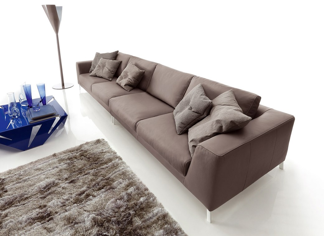 Sectional imitation leather sofa artis leather by ditre for Divano 2 metri