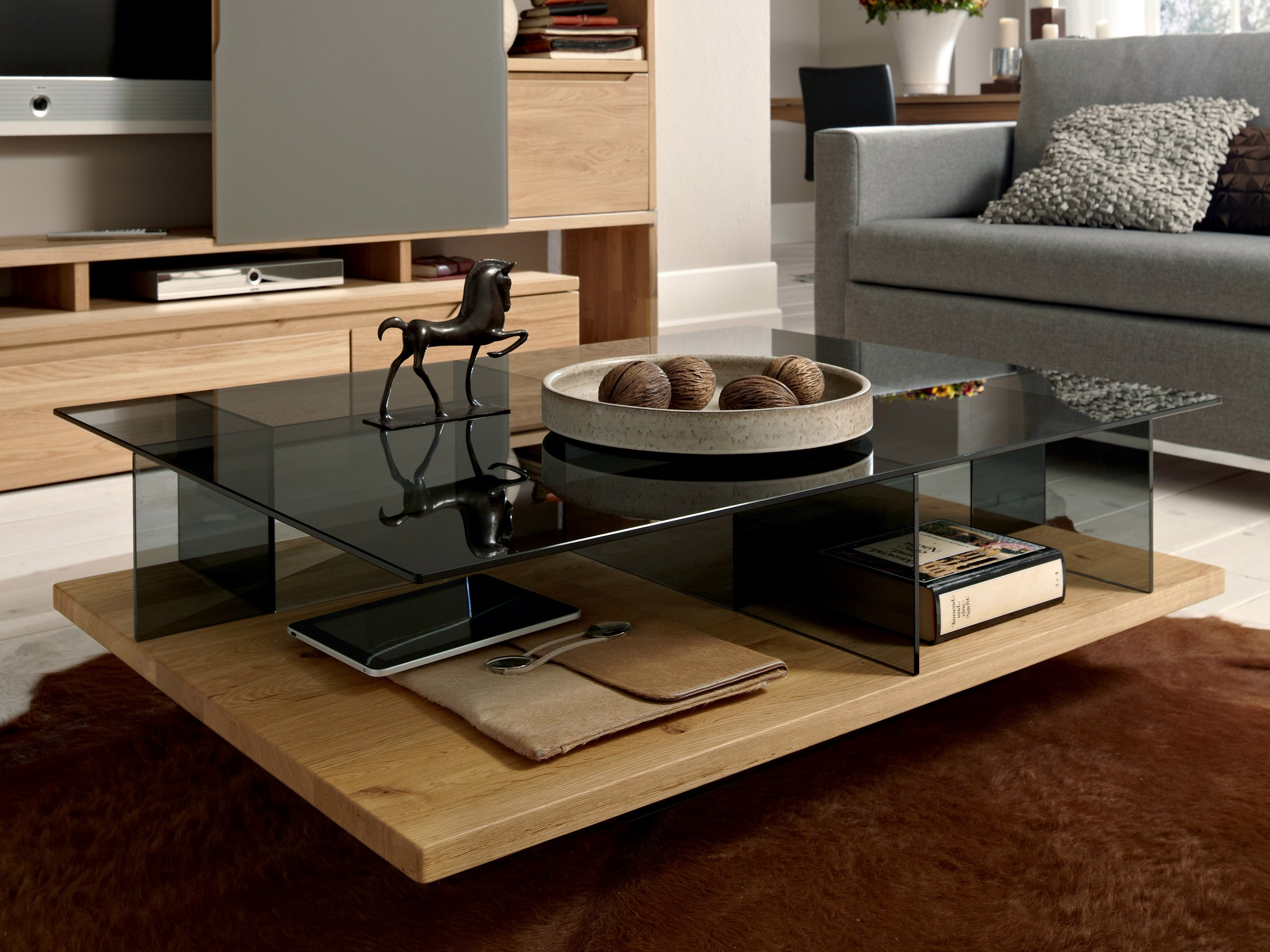 table basse rectangulaire en ch ne ct 150 collection tables basses by h lsta werke h ls. Black Bedroom Furniture Sets. Home Design Ideas