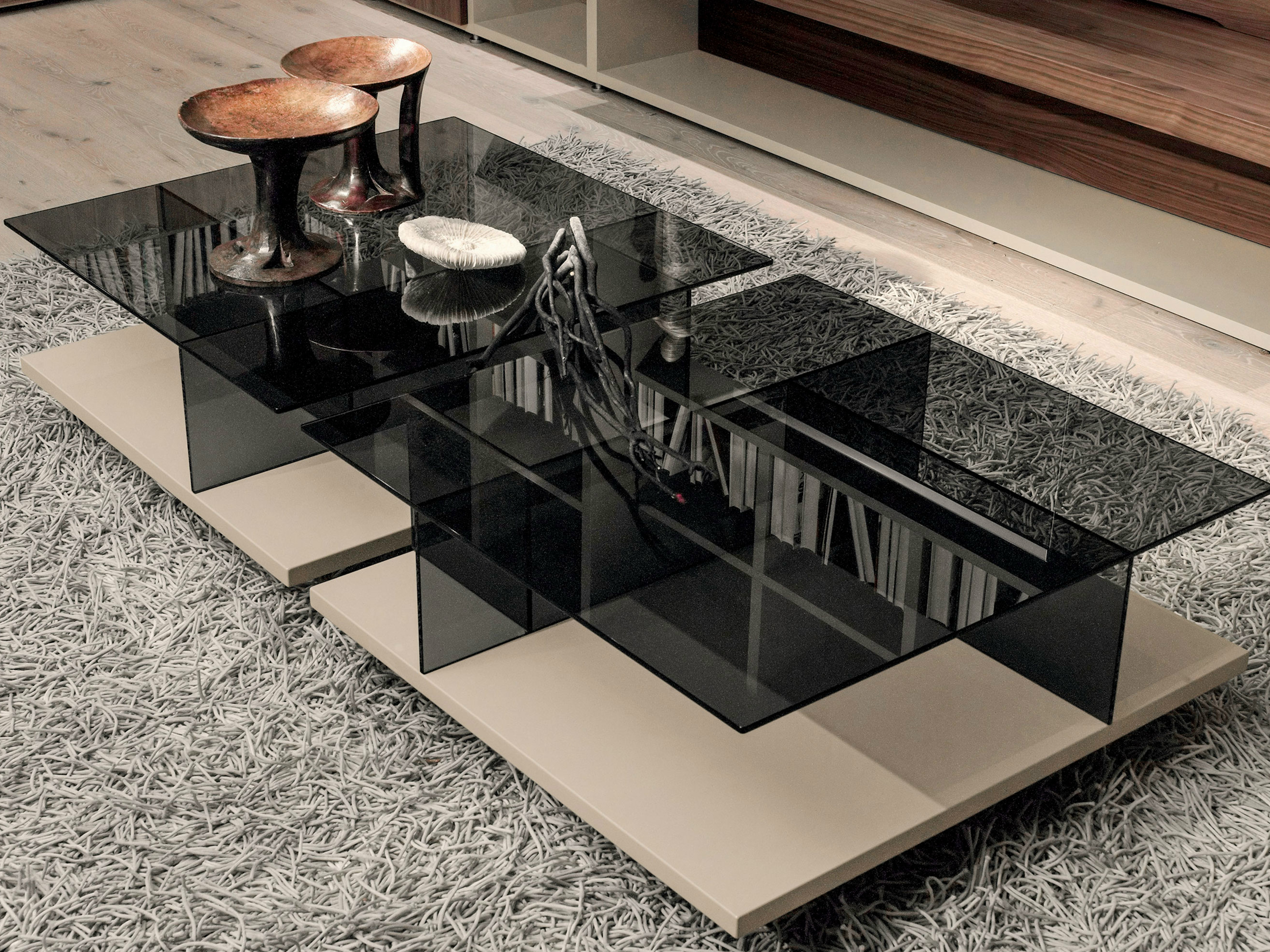Low Square Stained Glass Coffee Table Ct 160 Coffee Tables Collection By H Lsta Werke H Ls