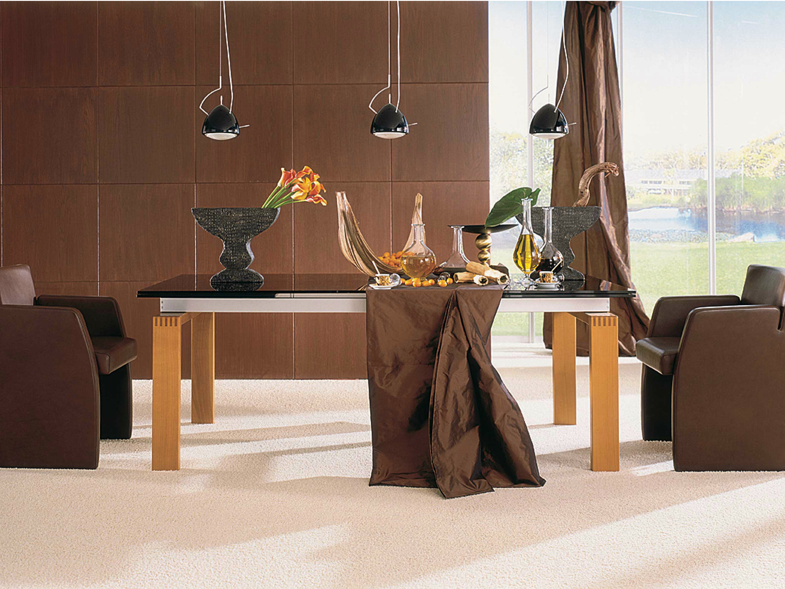 et 600 stained glass table by h lsta werke h ls. Black Bedroom Furniture Sets. Home Design Ideas