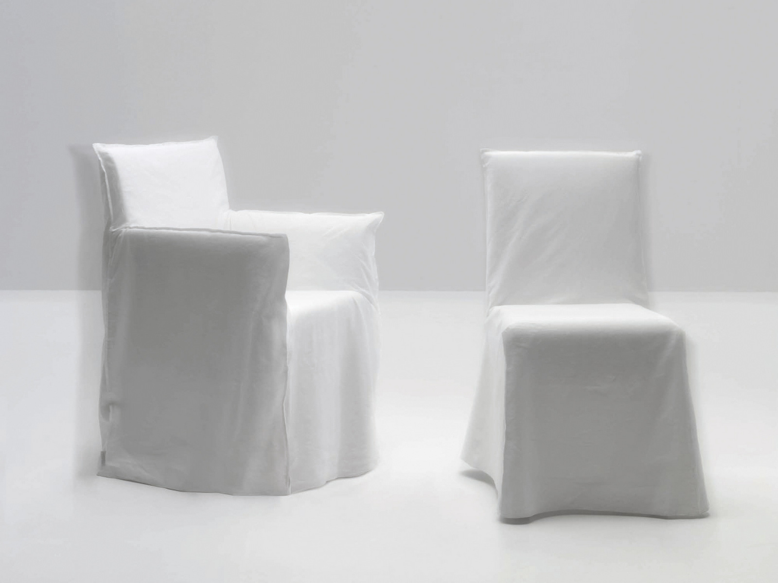 RESTAURANT CHAIR WITH REMOVABLE COVER GHOST 23 GHOST COLLECTION BY GERVASONI