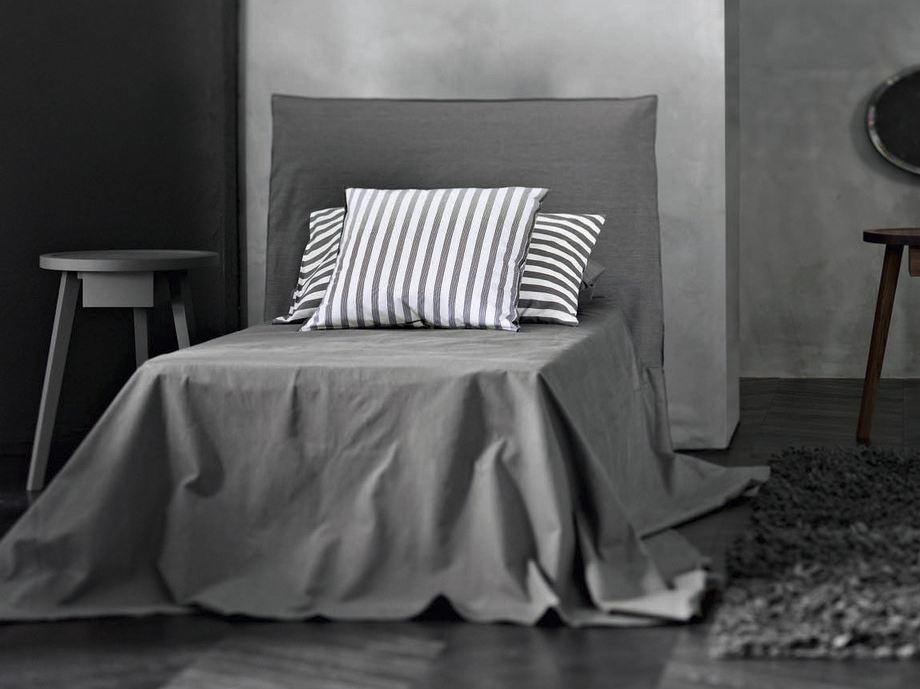 Single bed with removable cover ghost 80 ghost collection for Paola navone ghost
