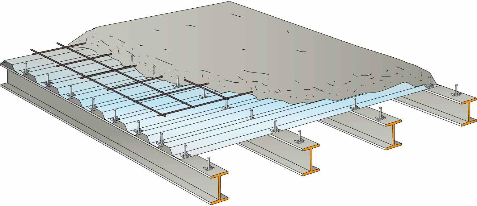 plancher collaborant acier b ton ctf by tecnaria. Black Bedroom Furniture Sets. Home Design Ideas