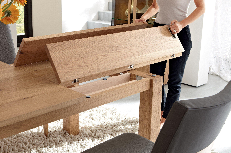 Table extensible à manger en bois massif ET 1800  Table à manger  ~ Table En Bois Extensible