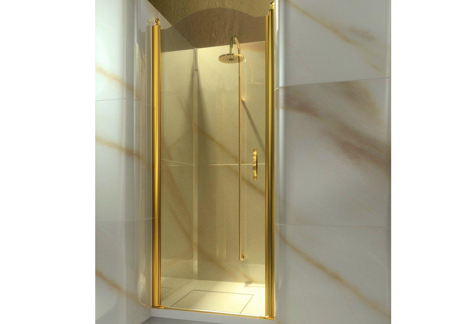nische nach mass duschkabine aus geh rtetem glas gold al. Black Bedroom Furniture Sets. Home Design Ideas