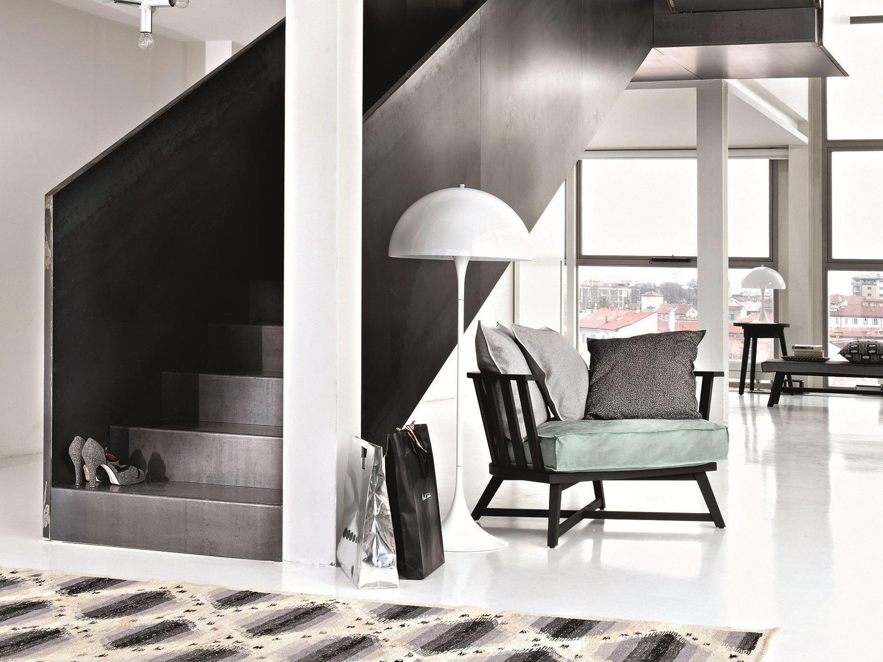poltrona con braccioli gray 07 by gervasoni design paola. Black Bedroom Furniture Sets. Home Design Ideas